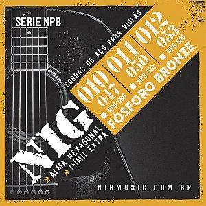 Encordoamento Nig NPB-560 010/047 Fósforo Bronze para Violão