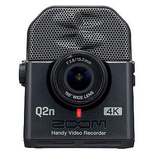 Gravador Digital Zoom Q2n de Áudio e Vídeo 4K