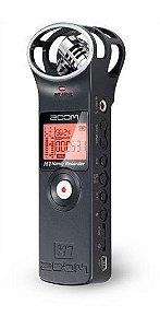 Gravador Digital Portátil Zoom H1 Handy Recorder Black