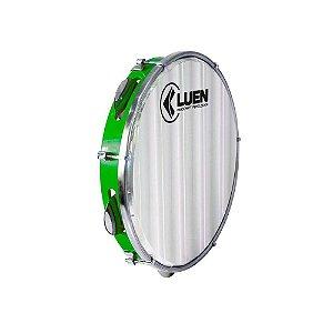 Pandeiro Luen Percussion 10 ABS Verde Pele Holográfica Lisa