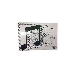 Caderno Espiral de Música Izzo Pequeno com 100 Páginas