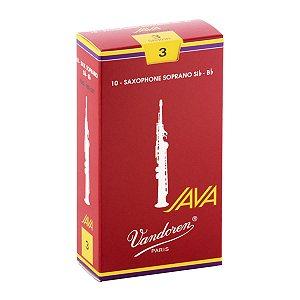 Palheta Vandoren Java Red Cut Nº 3 para Sax Soprano