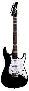 Guitarra Stratocaster Seizi Vision Black Escudo Perolado