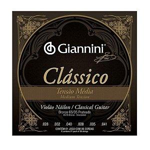 Encordoamento Giannini GENWPM .028/.041 Clássico para Violão