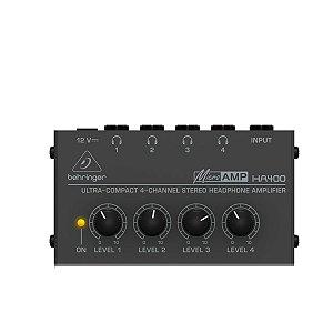 Pré Amplificador Behringer Microamp HA400 Powerplay 4 Canais