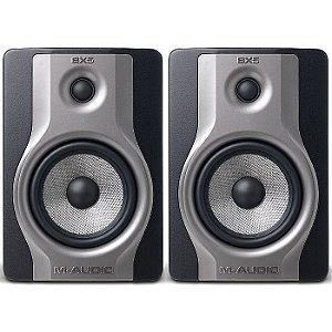 """Monitor de Referência M-Audio BX5 Carbon Pro 1x5"""" 70w (Par)"""