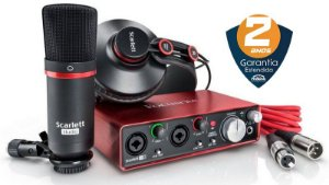 Interface de Áudio Focusrite Scarlett Studio 2i2 USB 2nd Geração