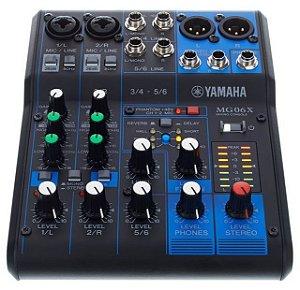 Mesa de som Analógica Yamaha MG06X 6 Canais