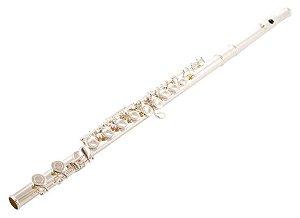 Flauta Transversal Soprano Yamaha YFL311 C Prateada com Case