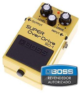 Pedal de Efeito Boss Super Overdrive SD1 para Guitarra