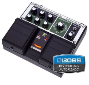 Pedal de Efeito Boss Space Echo RE20 Duplo para Guitarra