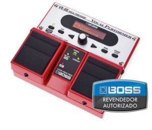 Pedal de Efeito Boss Vocal Processor VE20 Duplo para Voz