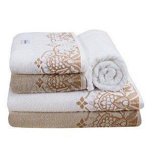 Jogo de toalha- Banho e rosto-  Karsten -  Versati Donatta- 2 peças  - Gramatura: 480 g/m²