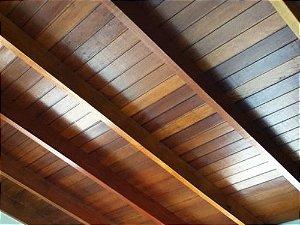 FORRO DE CEDRINHO MESCLADO (14PÇS) 4,50MTS comprimento /6,30M2 - 1cm (altura) x 10 cm (largura)