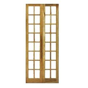 Folha de Porta Camarão 16 Vidros padrão imbuía 210x72