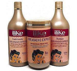 ILike Hidratação Express Kit Trio Profissional