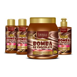 Forever Liss Bomba de Chocolate Máscara Hidratante  Kit Profissional