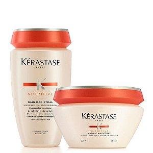 Kérastase Nutritive Magistral Kit Cabelos Grossos: Shampoo 250ml + Máscara 200ml