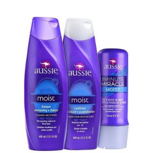 Aussie Moist Kit Shampoo Condicionador + Mascara 3 Minute