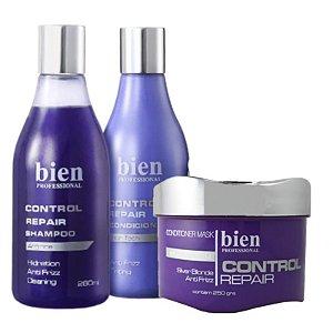 Bien Professional Control Repair Kit Shampoo, Condicionador e Máscara