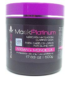 Madame Hair Mask Platinum Mascara Matizadora Black - 500g
