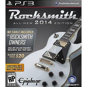 Rocksmith 2014 - Não inclui cabo para Guitarra - PS3 ( USADO )