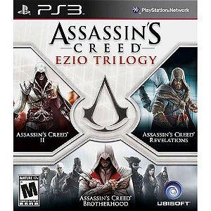Assassins Creed: Ezio Trilogy - Brotherhood, Assassins II E Revelations - PS3 ( USADO )