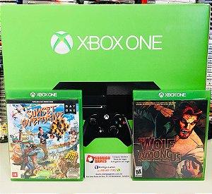 Xbox One 500GB + 2 jogos ( USADO )