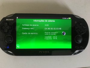 PS Vita + Cartão 32GB  ( USADO )