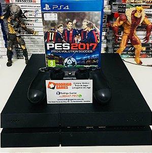 Console - PS4 500GB com Jogo Pes 17 ( USADO )