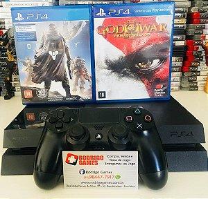 Console PS4 500GB com 2 Jogos ( USADO )