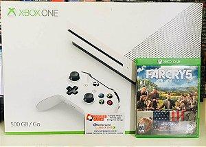 Console - Xbox One S 500GB com jogo Farcry 5 ( USADO )