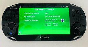 Ps Vita com cartão de 8GB + Case ( USADO )