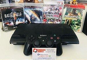 Console - Ps3 250GB com 10 Jogos ( USADO )