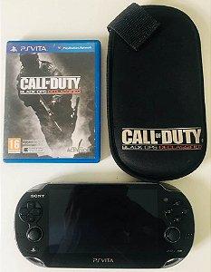 Console Ps Vita + Cartão de 4GB + Case e jogo Call of duty ( USADO )