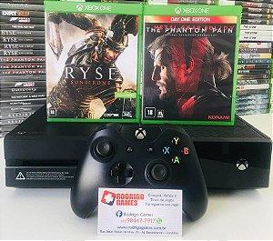 Console - Xbox one 500GB com 2 Jogos ( USADO )