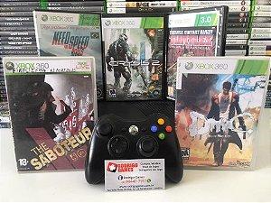 Console - Xbox 360 desbloqueado com 5 Jogos ( USADO )