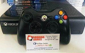 Console - Xbox 360 desbloqueado com 6 Jogos ( USADO )