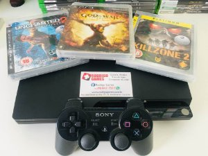 Console - Ps3 250Gb com 3 Jogos ( USADO )