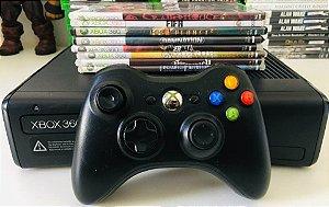 Console - Xbox 360 Desbloqueado com 8 jogos ( USADO )
