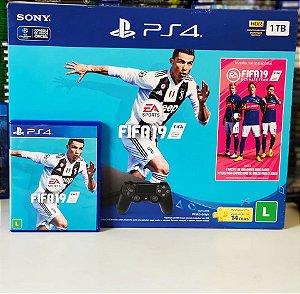 Console - PS4 1TB com jogo fifa 19 ( USADO )