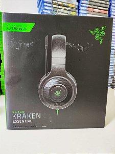 Headset Gamer Razer Kraken Essential Com Microfone - PS4 XBOX ONE PC ( NOVO )