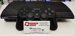 Console - Ps3 500GB com cerca de 18 jogos na memoria ( USADO )