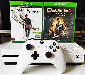 Console - Xbox One S 1TB com 2 Jogos ( USADO )