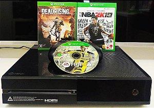 Console - Xbox One Fat 500gb com 3 jogos ( USADO )