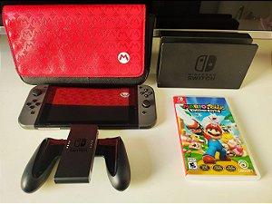 Console - Nintendo Switch com case + jogo ( USADO )