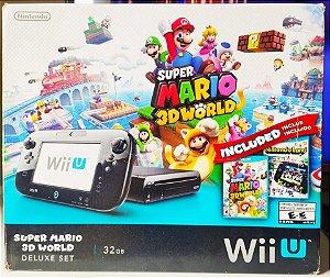 Console - Nintendo Wii U Desbloqueado + 1 jogo ( USADO )