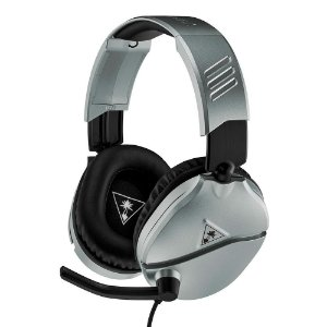 Headset Gamer Turtle Beach Recon 70P - Compatível com PS4 PS5 PC Xbox One Nintendo Switch e Mobile Prata