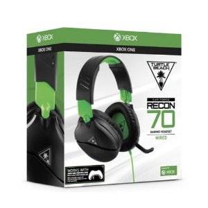 Headset Gamer Turtle Beach Recon 70X - Compatível com Xbox PS4 PC Nintendo Switch e Mobile Preto