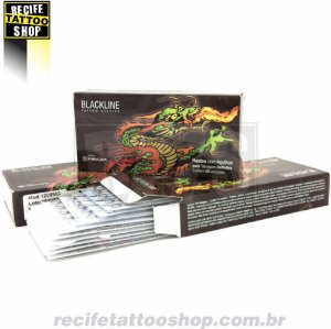 Agulha BlackLine - Modelo Traço RL  com 50 unidades